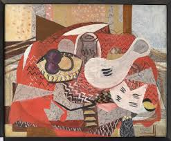 braque red tablecloth